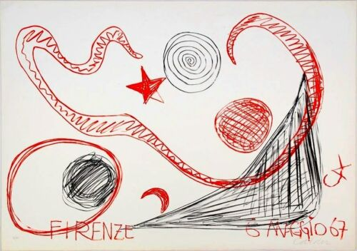 Alexander CALDER _ Original Lithography - 1967 _ signed and numbered in pencil