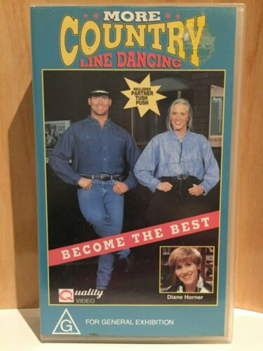 MORE COUNTRY ~ LINE DANCING ~ DIANE HORNER ~ BECOME THE BEST ~ VHS VIDEO