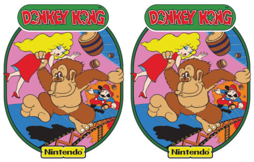 Top Holiday Gifts Bartop Donkey Kong Nintendo Arcade Cabinet Graphics For Reproduction Side Art