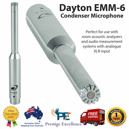 Dayton Audio EMM6 Professional Calibrated Condenser Microphone Electret Measures