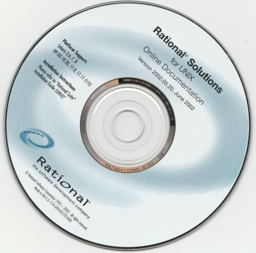 Classic Pc Software - Rational Solutions for UNIX - June 2002 (Disk Only)