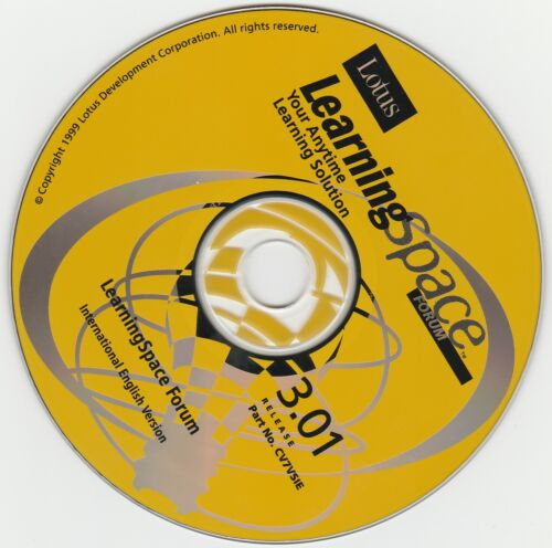 Classic Pc Software - Lotus - Learning Space V3.01 - Inc. Lotus Notes V4.6 - (Di