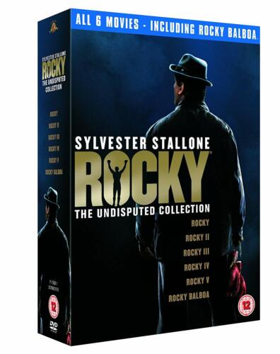 "ROCKY THE UNDISPUTED COLLECTION ALL 6 FILMS 6 DISCS DVD BOX SET ""NEW&SEALED"""