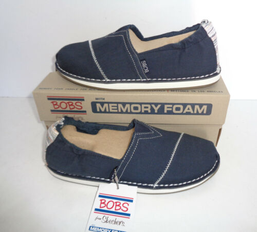Skechers Ladies New Slip On Navy Casual Memory Foam Trainers Shoes UK Sizes 3-8