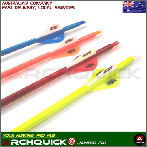 6pcs 32/'/' Pure Carbon Arrows 4/'/' Turkey Feather 5.5mm Shaft Archery Hunting UK