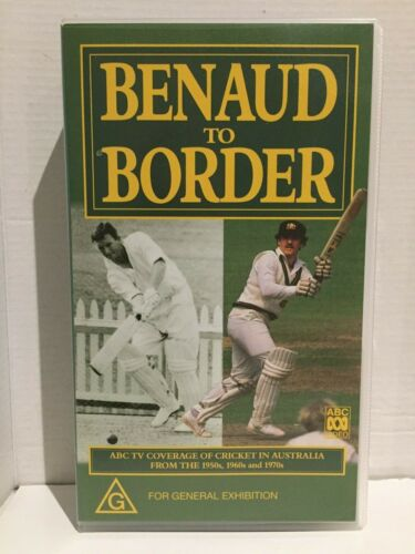 BENAUD TO BORDER ~ CRICKET AUSTRALIA from 50's 60's 70's ~ AS NEW PAL VHS VIDEO