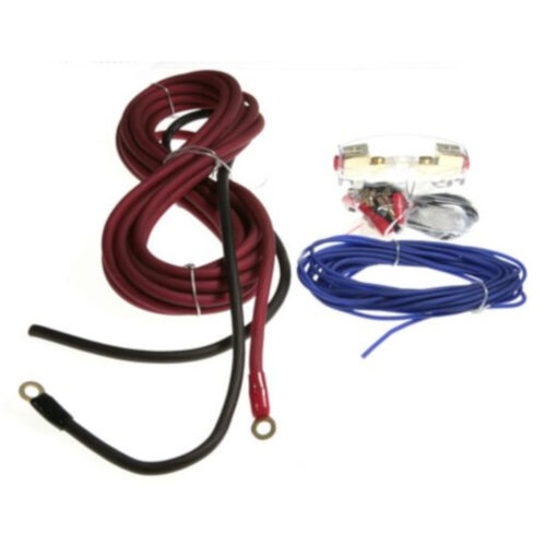 8inch Awg 450w Power Cable kit 50A AGU fuse with holder 6 pieces cable ties