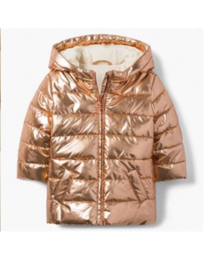 Gymboree Baby GIrl's Gold Puffy Winter Jacket NWT