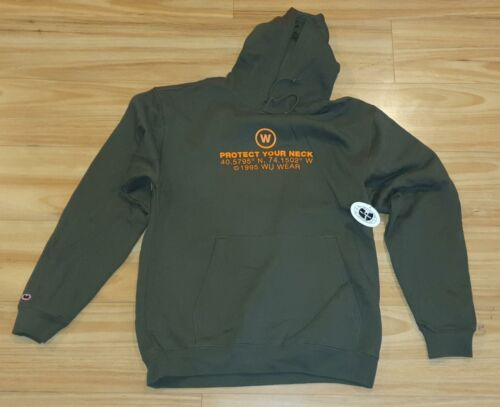 WU WEAR PROTECT YOUR NECK OFFICIALLY LICENSED WU-TANG CLAN MILITARY GREEN HOODIE