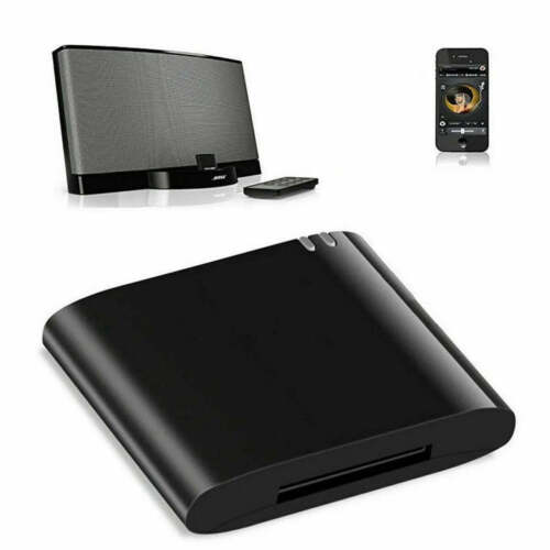 Bluetooth 4.1 Music Audio Adapter Receiver 30 Pin Dock Speaker for iPod iPhone