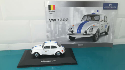 Voiture 1/43 Police cars collection ATLAS VW volkswagen 1302