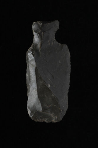 NEOLITHIC JAPAN, JOMON CULTURE TANG KNIFE or HAFTED SCRAPER, Aomori Prefecture