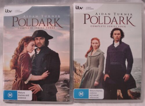 POLDARK Complete Series Three & Four DVDs Aidan Turner Eleanor Tomlinson