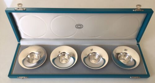 Set of 4 Georg Jensen Sterling Silver Candlesticks Designed by Nanna Ditzel