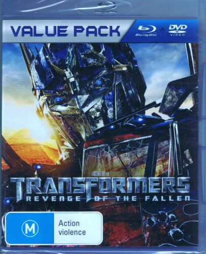 TRANSFORMERS Revenge Of The Fallen BLU-RAY + DVD Value Pack NEW/SEALED Free Post