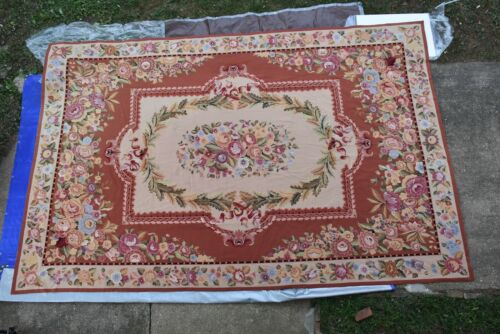 12x18 Beautiful Hand woven French Needlepoint Aubusson 100% wool Area rug #285