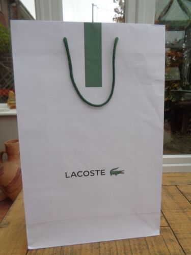 Lacoste White Heavy Paper Large Carrier Bag 12.25