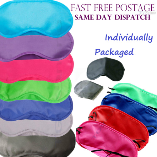 TRAVEL EYE MASK, SLEEP SLEEPING COVER REST EYEPATCH BLINDFOLD MIXED COLOURS NEW <br/> 10 Colours Available, Mixing colours OK, Wholesale FAST