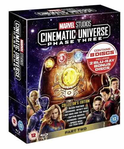 """MARVEL STUDIOS CINEMATIC UNIVERSE PHASE 3 PART 2 BOX SET 8 DISC BLU-RAY RB """"NEW"""""""