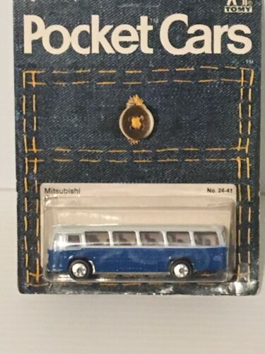 TOMICA POCKET CARS MITSUBISHI BUS EARLY WHEELS MADE IN JAPAN
