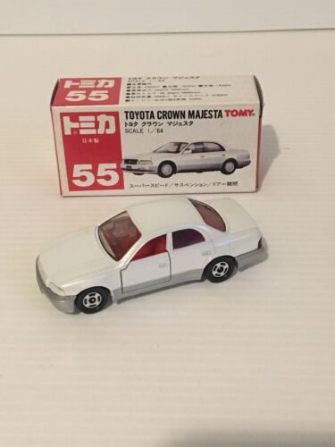 TOMICA NO55 TOYOTA CROWN MAJESTA 1/64 SCALE  MADE IN JAPAN