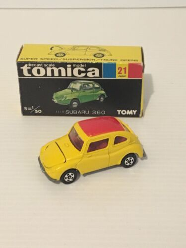 TOMICA NO21 SUBARU 360 1/50 SCALE  MADE IN JAPAN