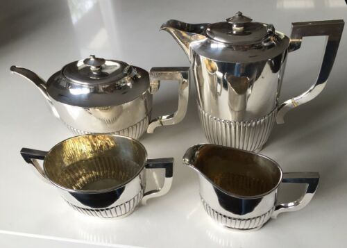 Antique Chinese 1890 Sterling Silver Tea and Coffee Set  Hong Kong 1720 grams