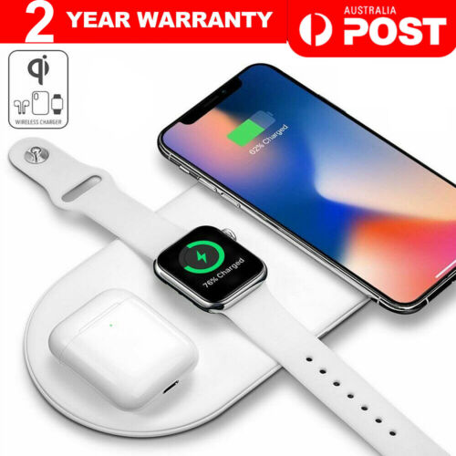 3in1 QI Wireless Charger Charging Station Dock for Apple Watch / iPhone/ Pods