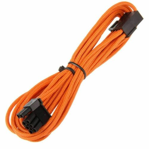 Bitfenix Video Card Extension Cable 45cm Orange Sleeved 6+2 Pin