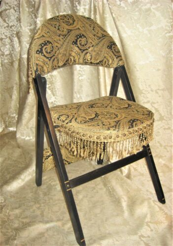 Aesthetic Movement styled folding Parlor Chair New Upholstery. Turkish Corner?