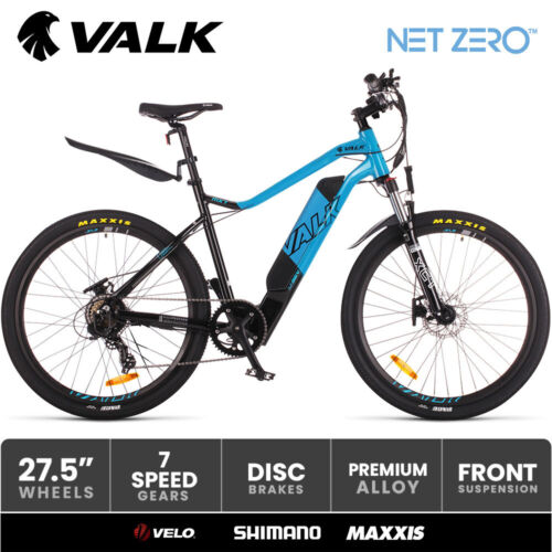 """VALK Electric Bike eBike Battery Mountain Bicycle Motorized eMTB 36V 250W 27.5 <br/> 27.5"""" Maxxis Pace Tyres I Velo saddle I Shimano SIS"""
