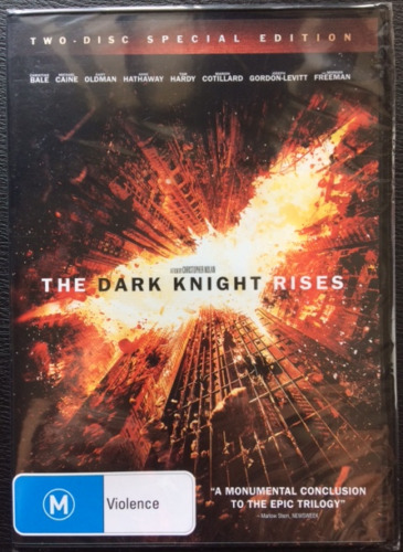 The Dark Knight Rises 2 Disc Special Edition Region 4 DVD Brand New Sealed