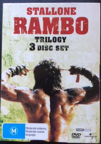 Stallone RAMBO Trilogy 3 Disc Set Region 4 DVD's Good Condition