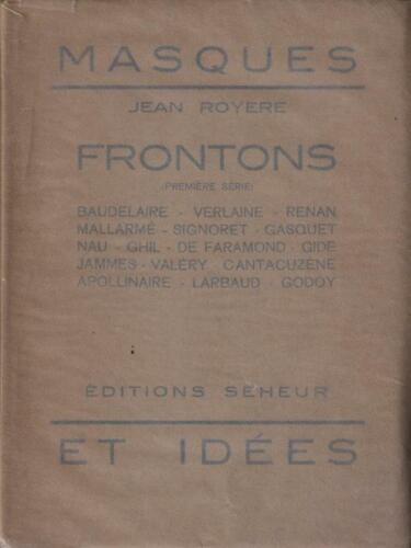 FRONTONS  AA.VV. MARCEL SEHEUR 1932