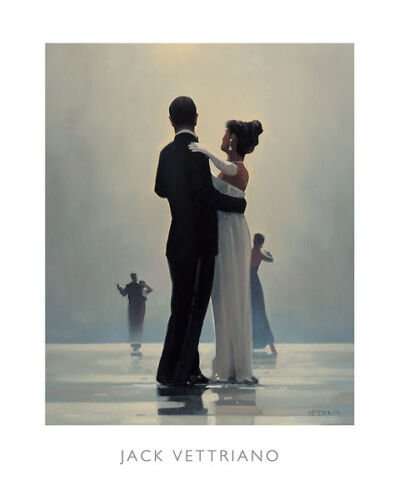 Dance Me to the End of Love by Jack Vettriano Beach, Dance Print 13.5x31.55