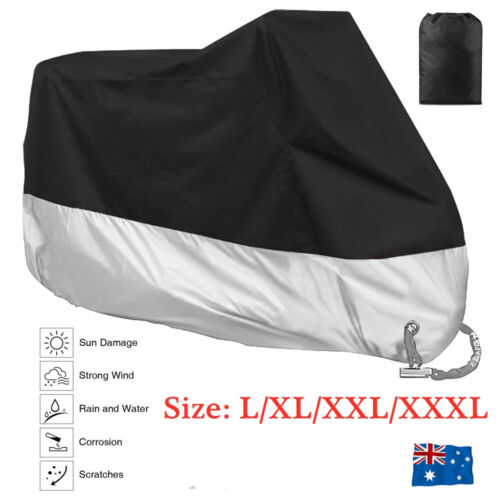L-XXXL Waterproof Outdoor Motorcycle Motorbike Cruiser Scooter Motor Bike Cover