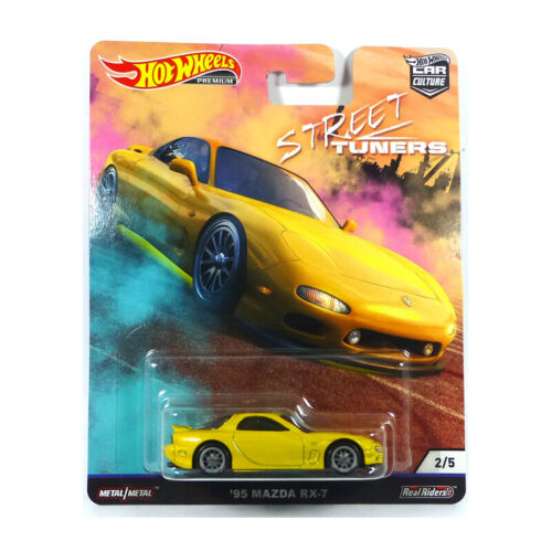 Hot Wheels FPY86-75 Mazda RX-7 Jaune Maßstab 1:64 Maquette de Voiture Neuf ! °