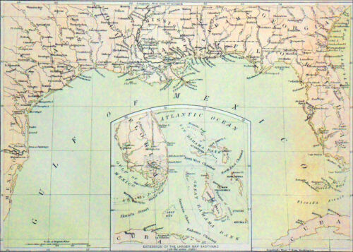 USA (Civil War): PARTS of SOUTHERN STATES (GULF of MEXICO)- Engraving from 19thMaps & Atlases - 156381
