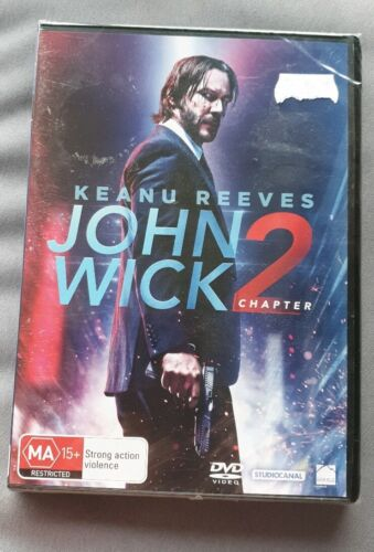 John Wick Chapter 2 DVD Region 4 NEW and SEALED FREE POSTAGE