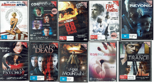 Ex Rental DVD Thriller Movies - Region 4