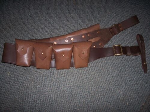 light horse 9 pouch Bandolier WWI 1903 Pattern Leather  Light horse Cavalry 1914 - 1918 (WWI) - 13962