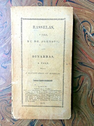 Johnson S. Rasselas. A tale - Dinarbas. A tale being a continuation.. 1817