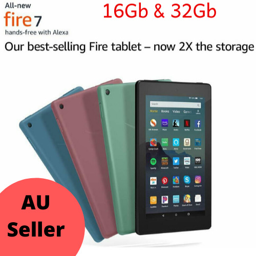 "All-New Amazon Kindle Fire 7 (2019) 9th Gen WiFi Tablet 7"" 16Gb Tablet w Alexa"