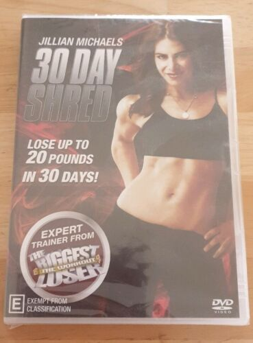 Jillian Michaels 30 Day Shred DVD NEW AND SEALED FREE POSTAGE
