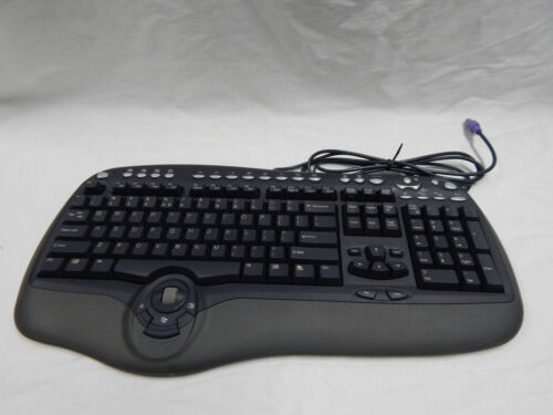 BTC Wired MultiMedia Keyboard  -PS2 Plug- MODEL : 8190A - RETRO Classic style