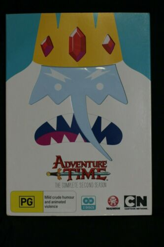 Adventure Time : Season 2 (DVD, 2013, 2-Disc Set) - R4 - Pre-owned - (D163)
