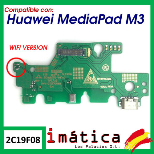 Board Charge for Huawei Mediapad M3 Cable Flex Microphone Connector Wifi Versio