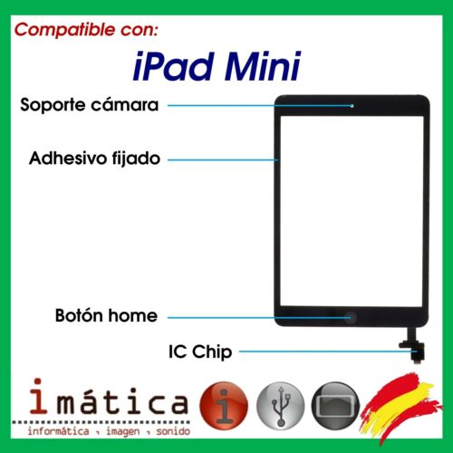 Screen Touch for IPAD Mini Black Ic Chip Button Home Support Camera Adhesive