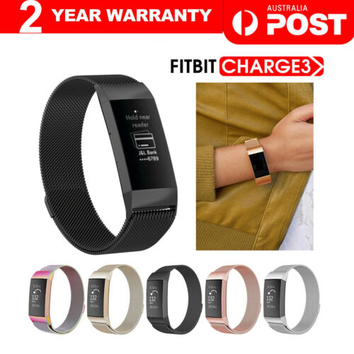 For Fitbit Charge 3 Band Metal Stainless Steel Milanese Loop Wristband Strap <br/> SAME DAY SHIPPING, From MELBOURNE AUSTRALIA
