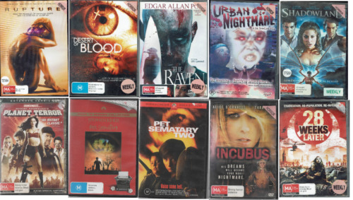 Ex Rental DVD Horror Movies - Region 4